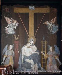 """Opona """"Pieta pod krzyżem"""" Fot. http://orawka-kosciol.pl/"""