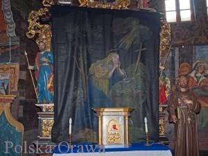 "Opona ""Pokutująca Maria Magdalena"" Fot. http://orawka-kosciol.pl/"